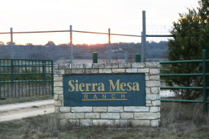 This is the front entrance to Sierra Mesa Ranch.